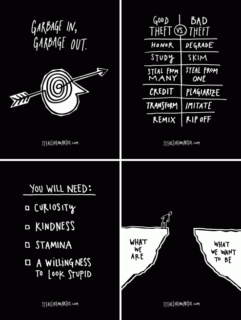 austin kleon four pics