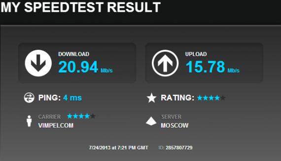 спидтест, проверка скорости интернета, интернет от билайна