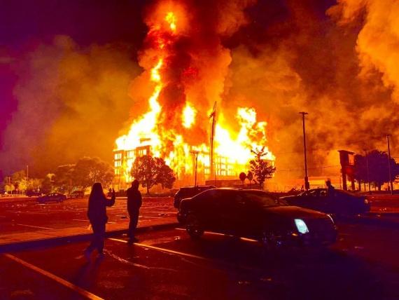 сожжение здания