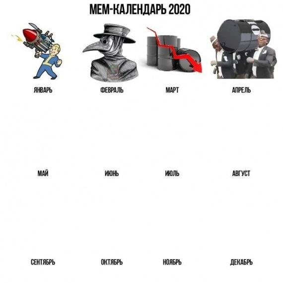 календарь апокалипсиса январь-апрель 2020