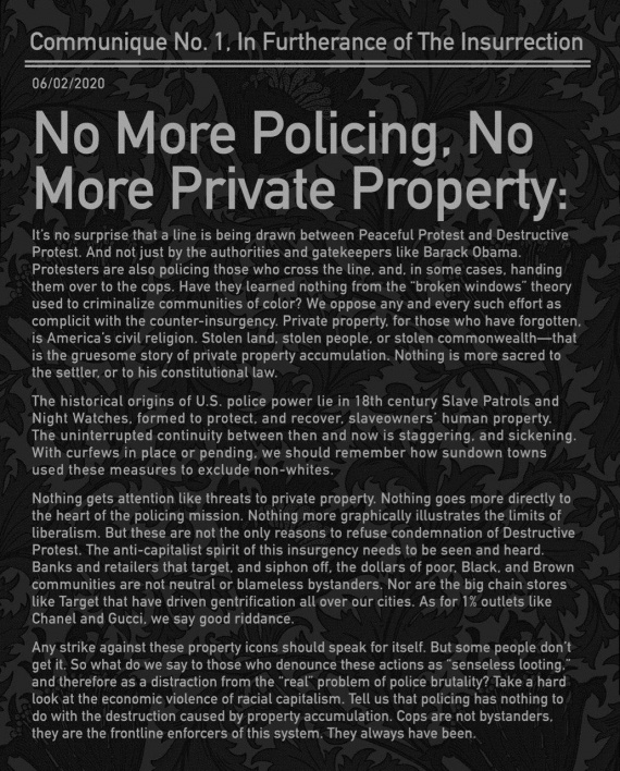 No more private property in the USA