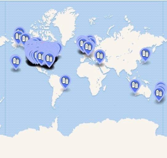 карта протестов против полицейского произвола по всему миру