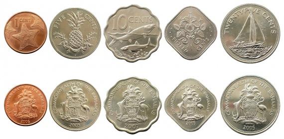 монеты Багамских островов