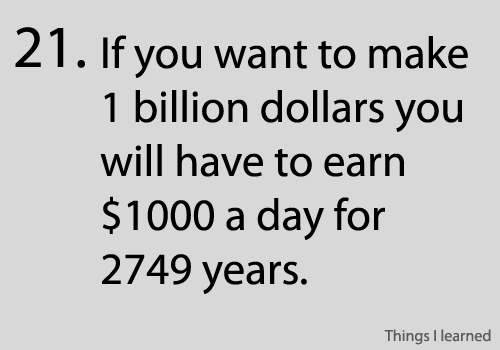 Making 1 billion dollars? That's very simple!