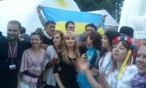 Украинская делегация. Девушки там красивые!